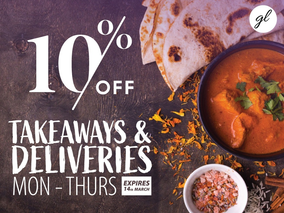 10% OFF ALL TAKEAWAYS & DELIVERIES