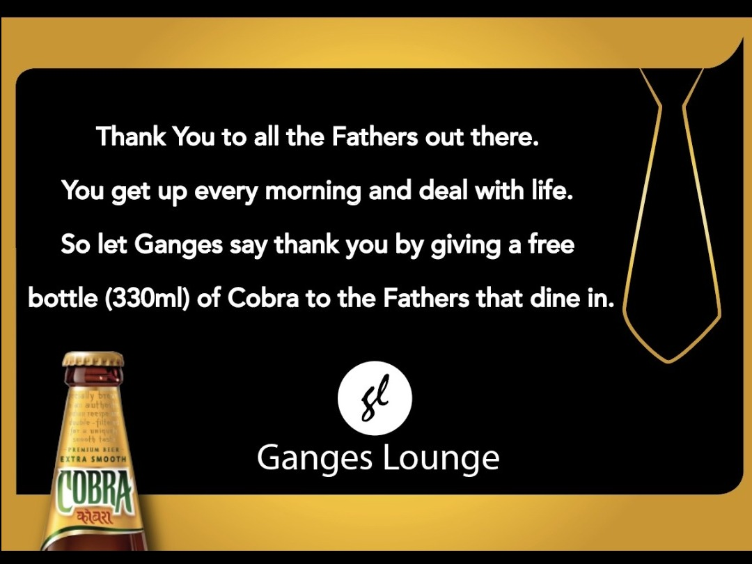 Fathers Day at Ganges Lounge